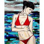 Red Bikini 1 – Woman at the Beach/Ocean