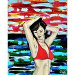 Red Bikini 3 – Woman at the Beach/Ocean
