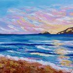 Sunrise on Fingal beach No 1
