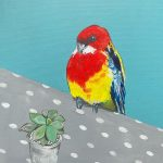 The Rosella and the Polka dot tablecloth