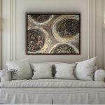 Leela -textured abstract metallic art