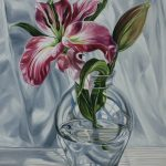 FINALIST LETHBRIDGE ART SHOW – Siblings and Words of the Day – Pink Lilium