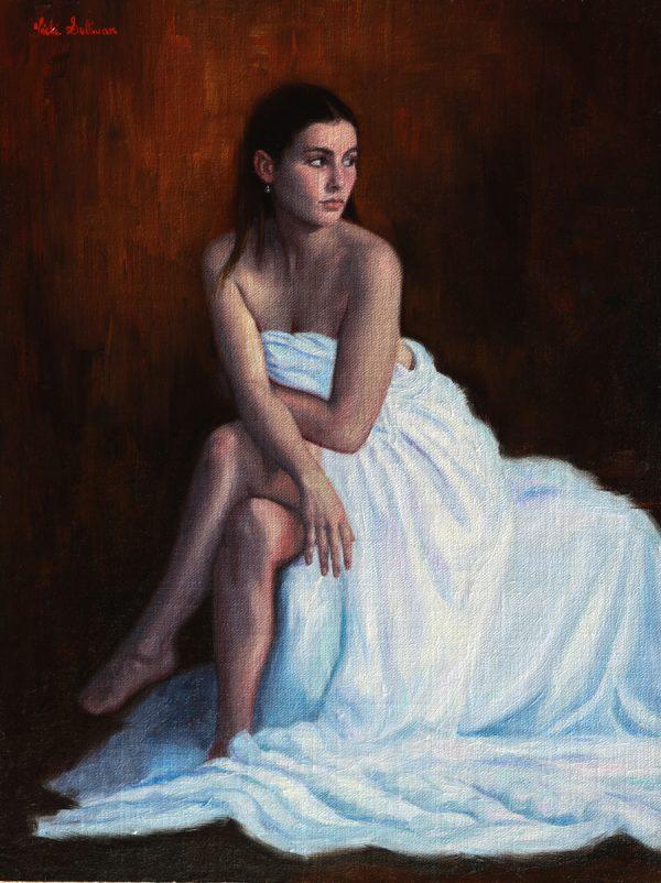 Astrid In White Muslin Vicki Sullivan Art Lovers Australia