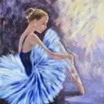 Ballerina in blue dress