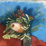 Banksia with Blue and Red
