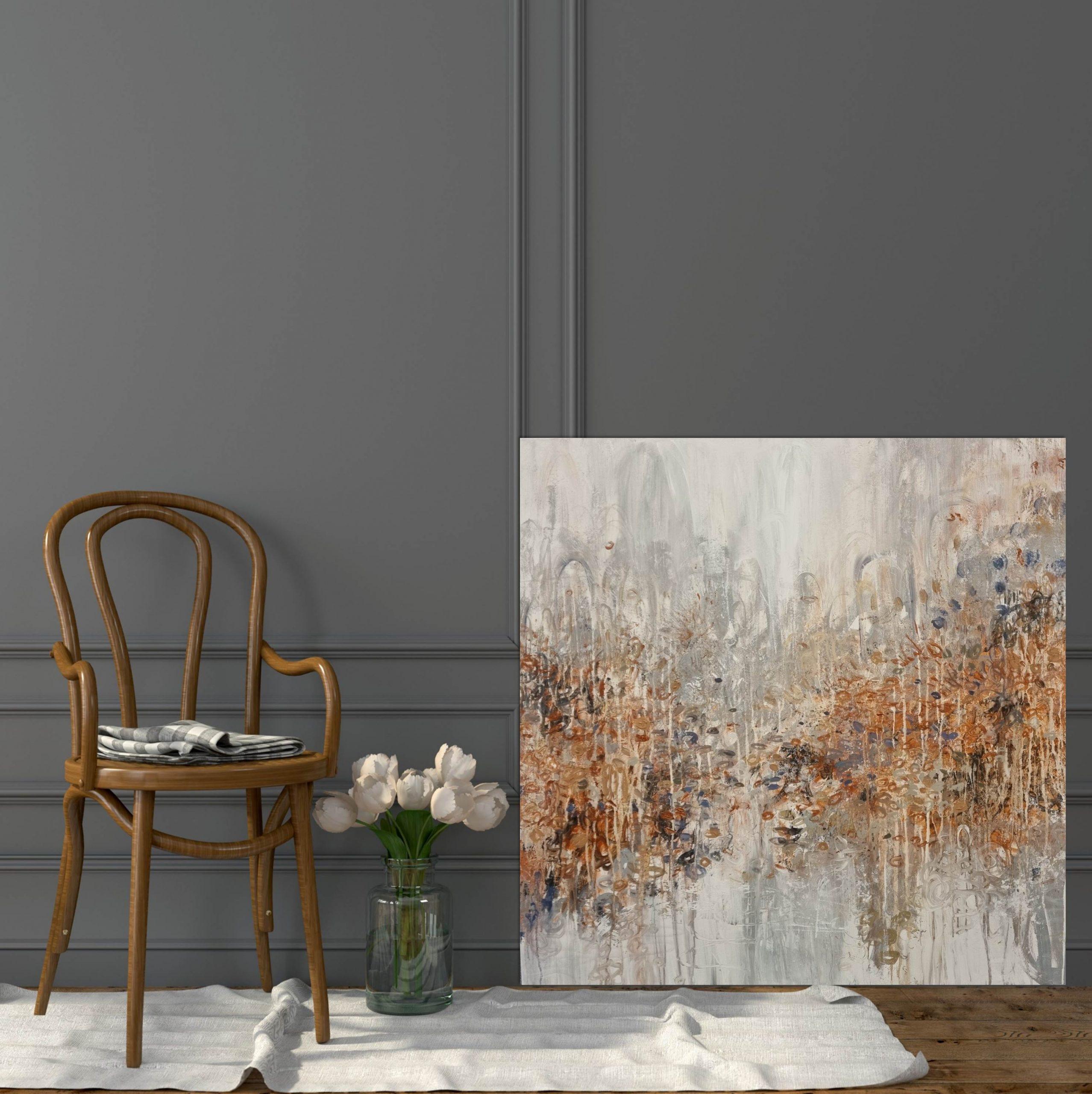 Copper Field Plain Chair Drk Wall
