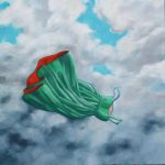 Floating green dress