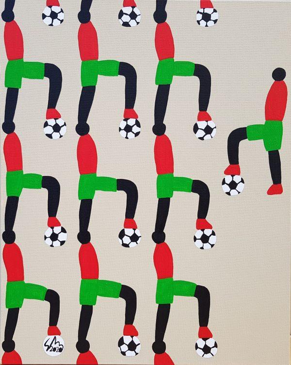 Football Academy 2020 Acrylic On Canvas 40cm X 50cm X 3.5cm