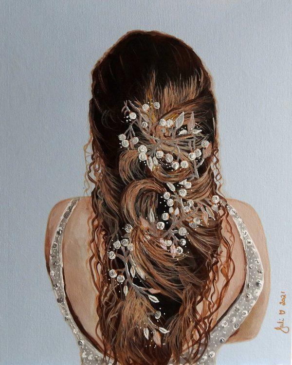 Here Comes The Bride Juliehollisart