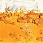 Kunjarrra Landscape the pebbles