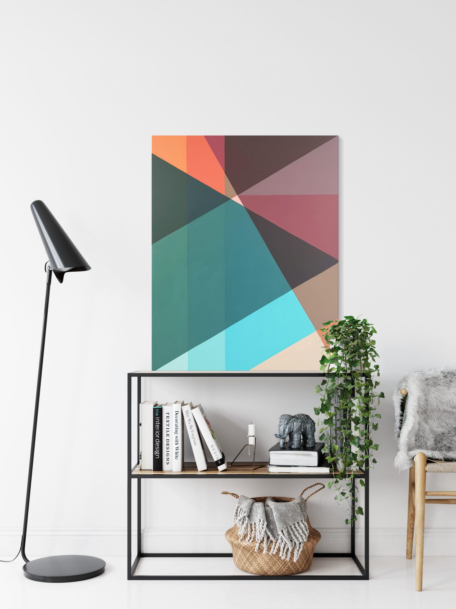 Min Ray Colours Of Time 4 Geometric Abstract Australian Artist 17b