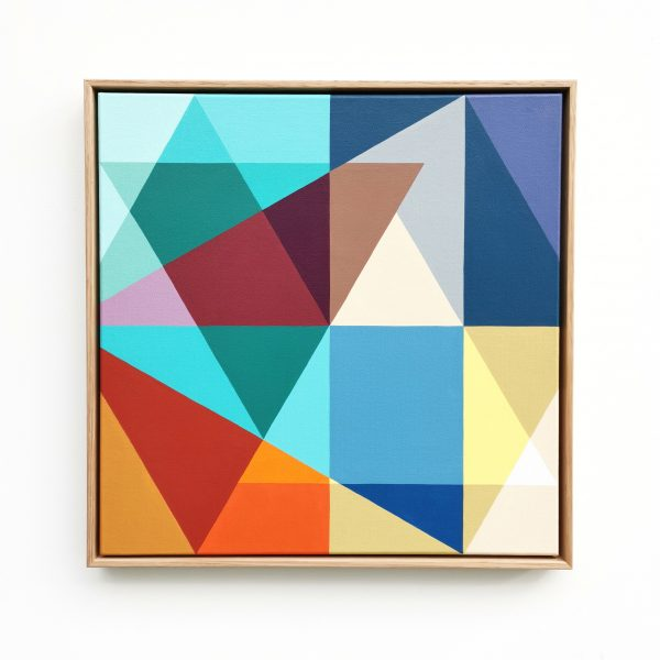 Min Ray Shapes Of Time 1 Geometric Hard Edge Abstract Australian Art Front