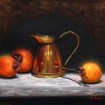 Persimmons with Copper jug