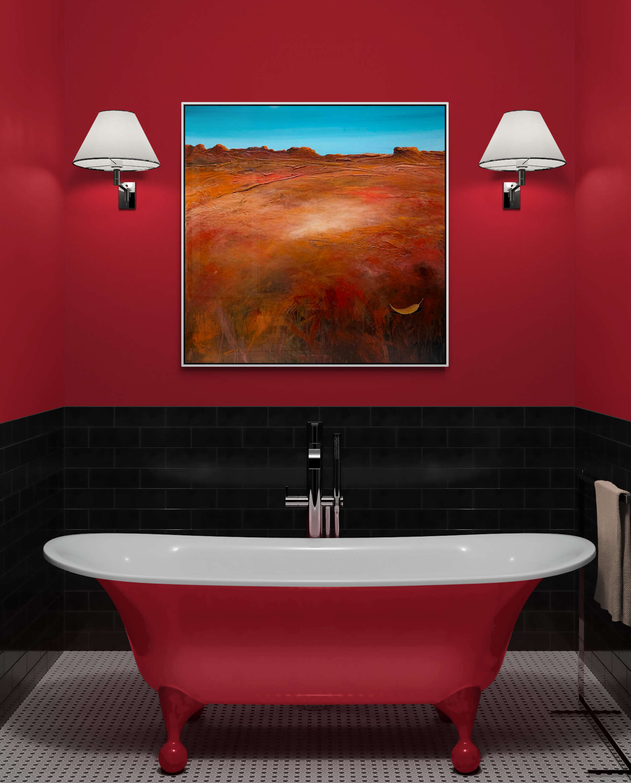 Tania Chanter The Burnt Red Land Landscape Art