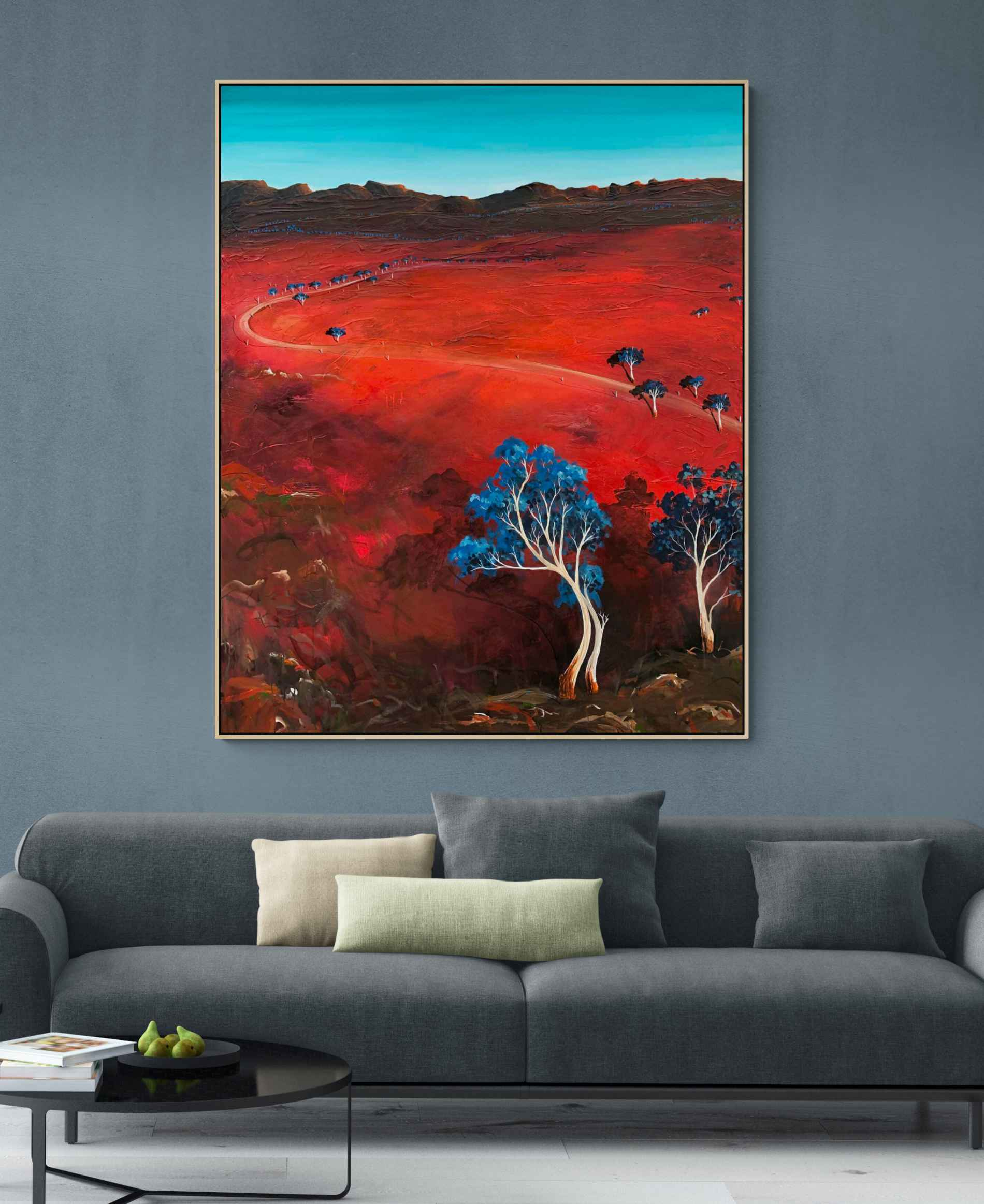 Tania Chanter The Scorched Red Earth Large Landscape