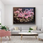 Twilight Protea – Framed Abstract Flowers