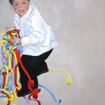 Young Boy with Streamers