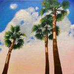 Fan Palms at Dusk