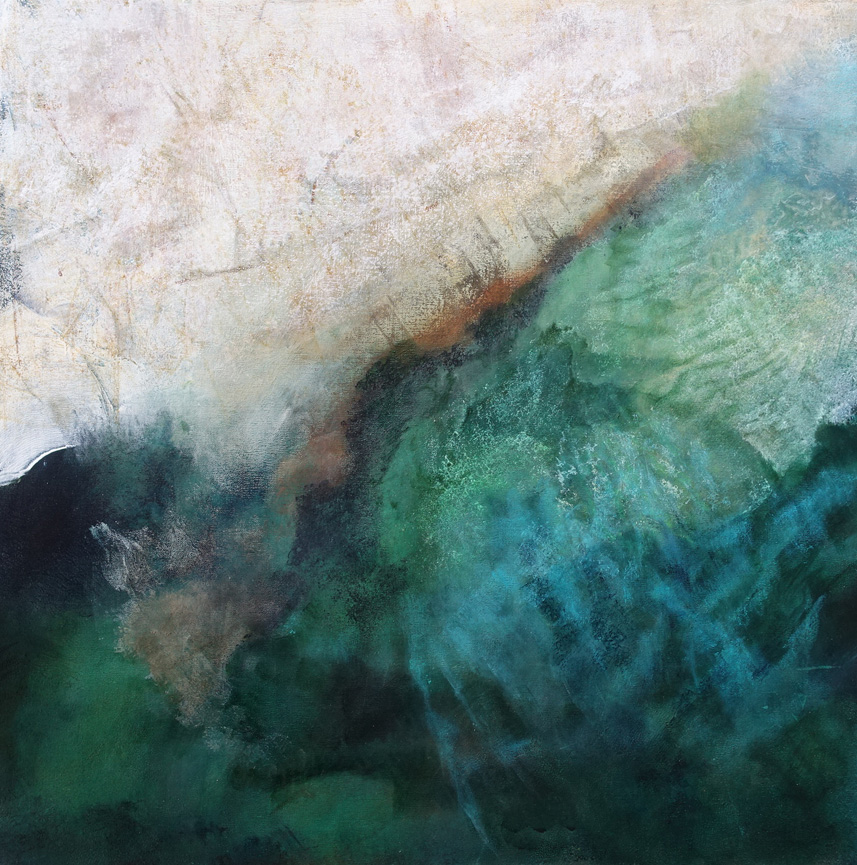Patriciawalshstudio White Sands Acrylic On Canvas 76x76cm