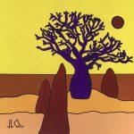 Australian Outback Desert Boab Tree