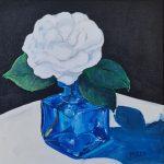 Blue Glass Camellia