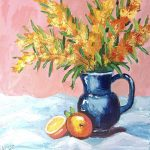 Golden Wattle and oranges No 2