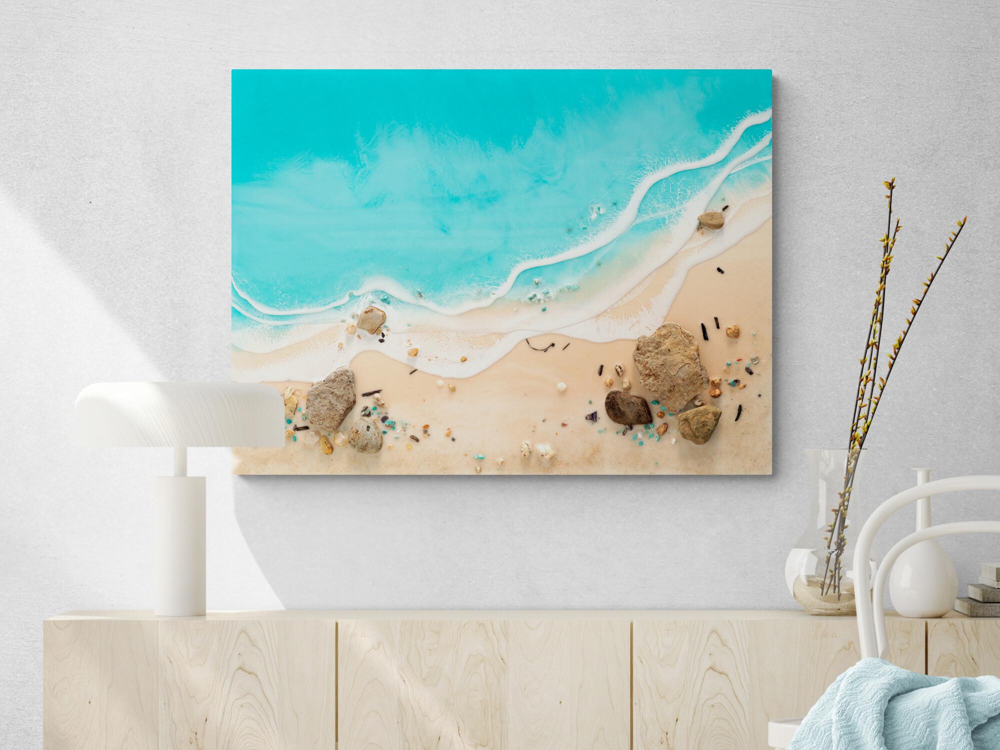 Australian Beach Art Coastal Resin Blue Beginnings By Michelle Tracey