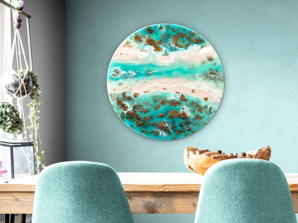 Australian Ocean Reef Art Forever Gold By Michelle Tracey