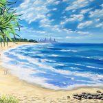 Burleigh beach, Gold coast, Australia