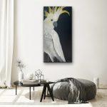 White Cockatoo on black
