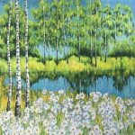 Daisies and birches