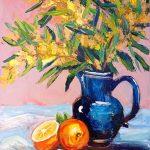 Golden Wattle and oranges