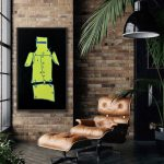 Ned Kelly Fluor Yellow and Black