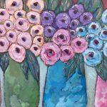 Jugs of flowers