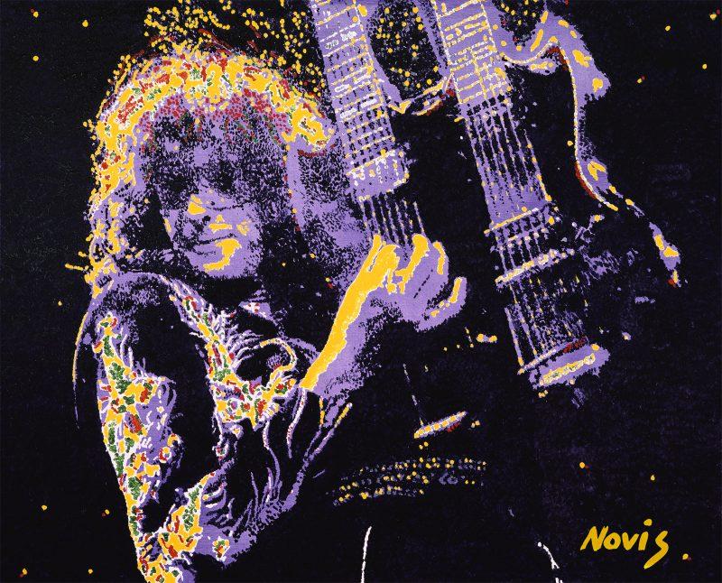 Jimmy Page Led Zeppelin By Novis 800x646