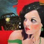 Killer on the Road – surreal pulp retro magazine cover art
