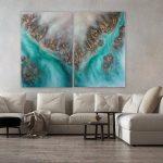 """Large Abstract Wall Art """"Arafura Calling"""""""