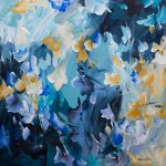 Meet Me There – Blue Flower Painting