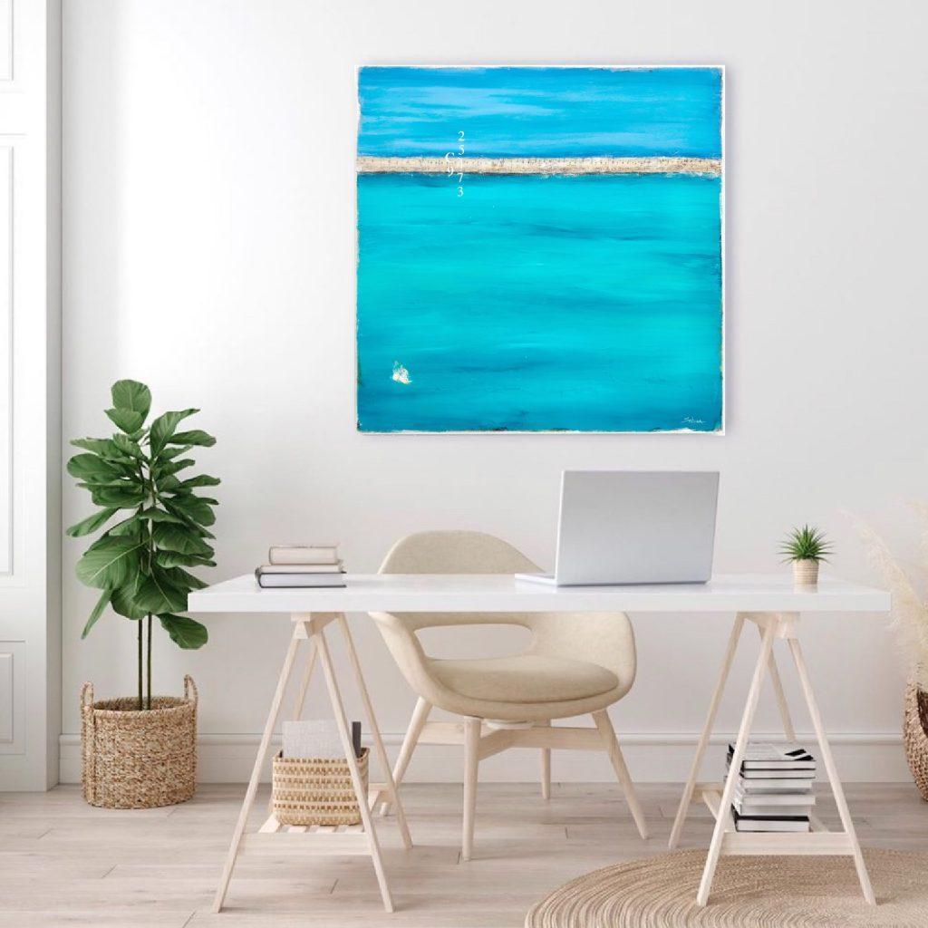 Our Ocean View Home Office Ocean Art