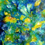 Floral Impressions in Blue