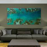"Resin Art  ""Reef Escape"""