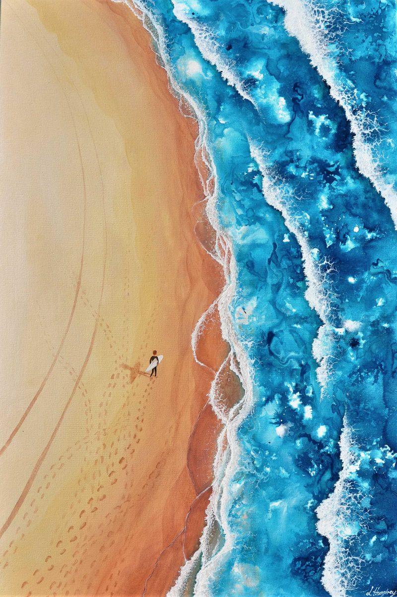 Solitary Surf Aust Art Lover Ocean Art Paintings