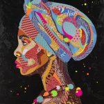 Nzuri (Beautiful) African Woman – Original Collage