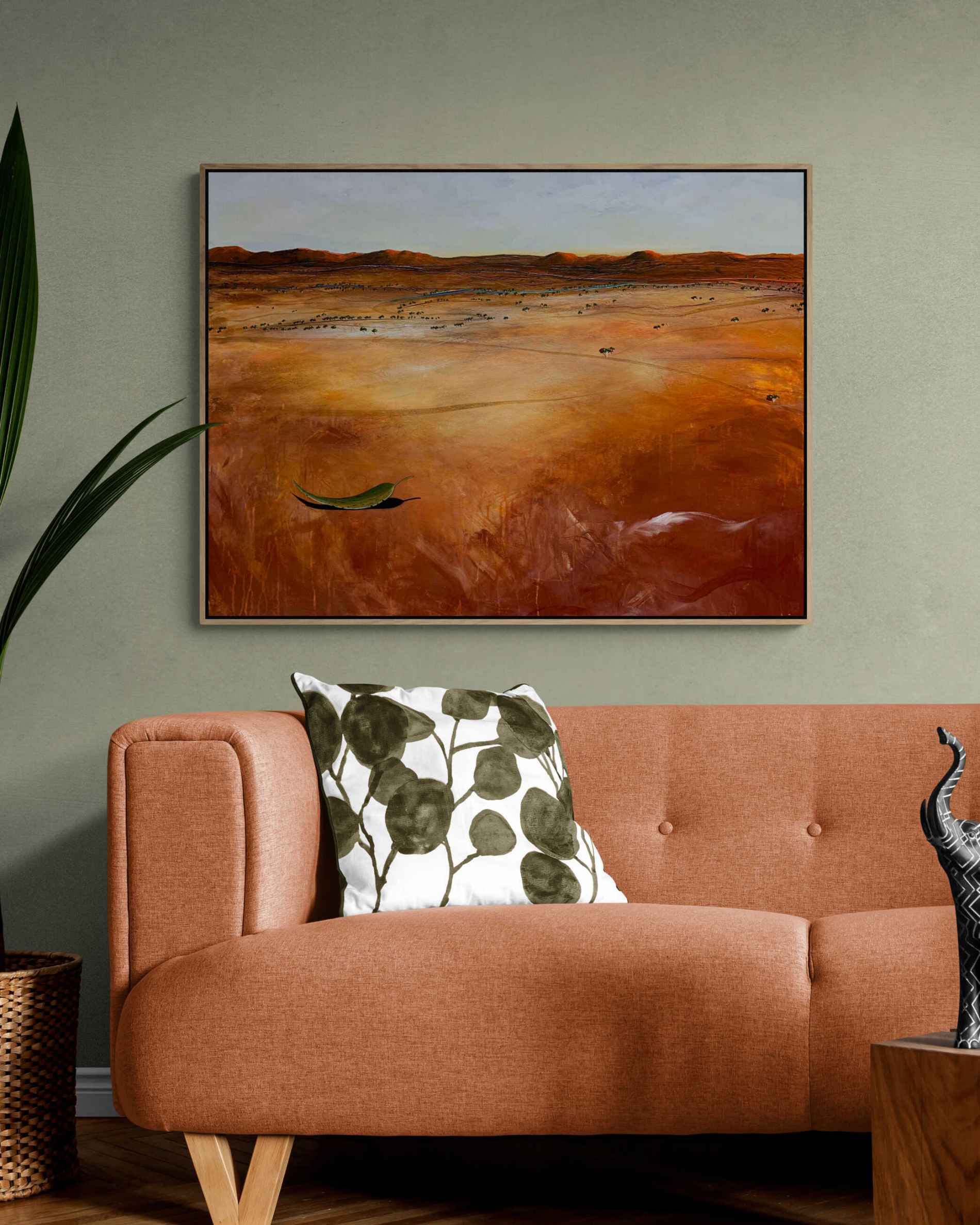 The Distant Creek Tania Chanter Abstract Landscape Outback Earthy Large2