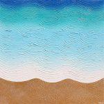 Beach Daze textured abstract