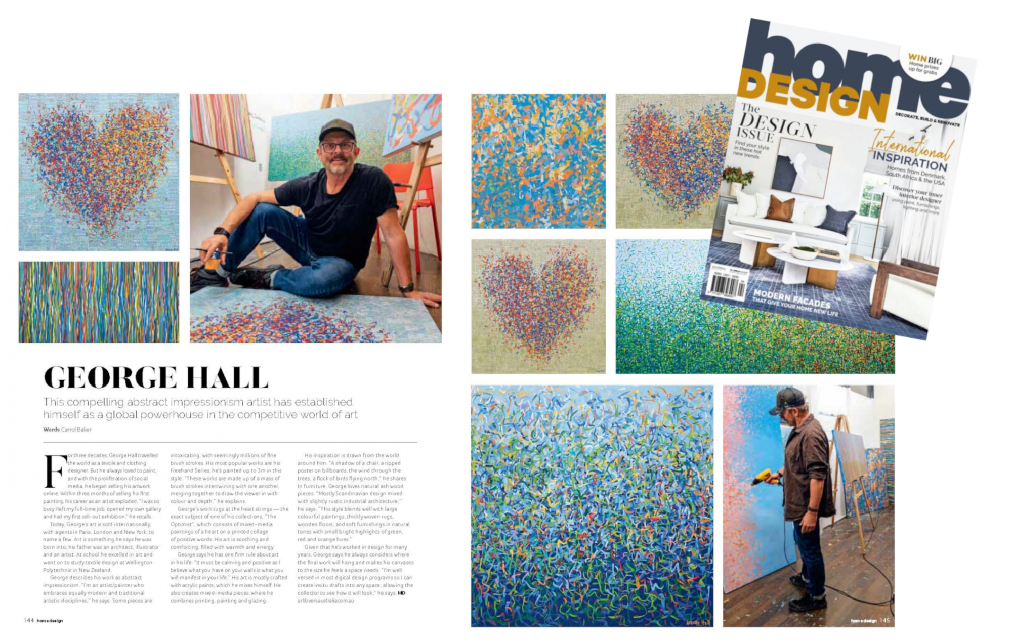 George Hall Abstract Paintings For Sale Home Design Magazine