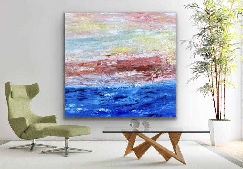 Large Ocean Art Abstract Paintings Theo Papathomas Art Lovers Australia