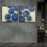 Moonlit Hydrangea Blooms 1 & 2 – Diptych