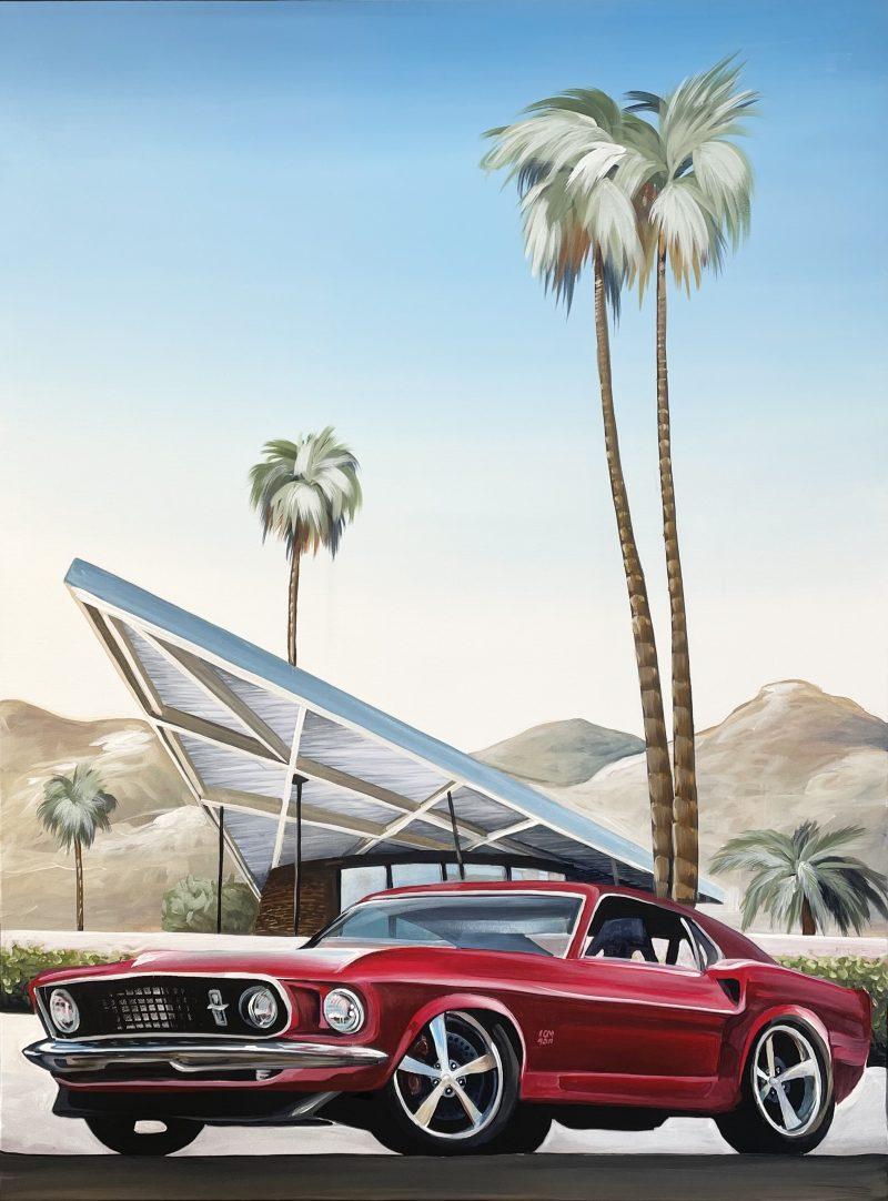 Mustang Wall Art Palm Springs