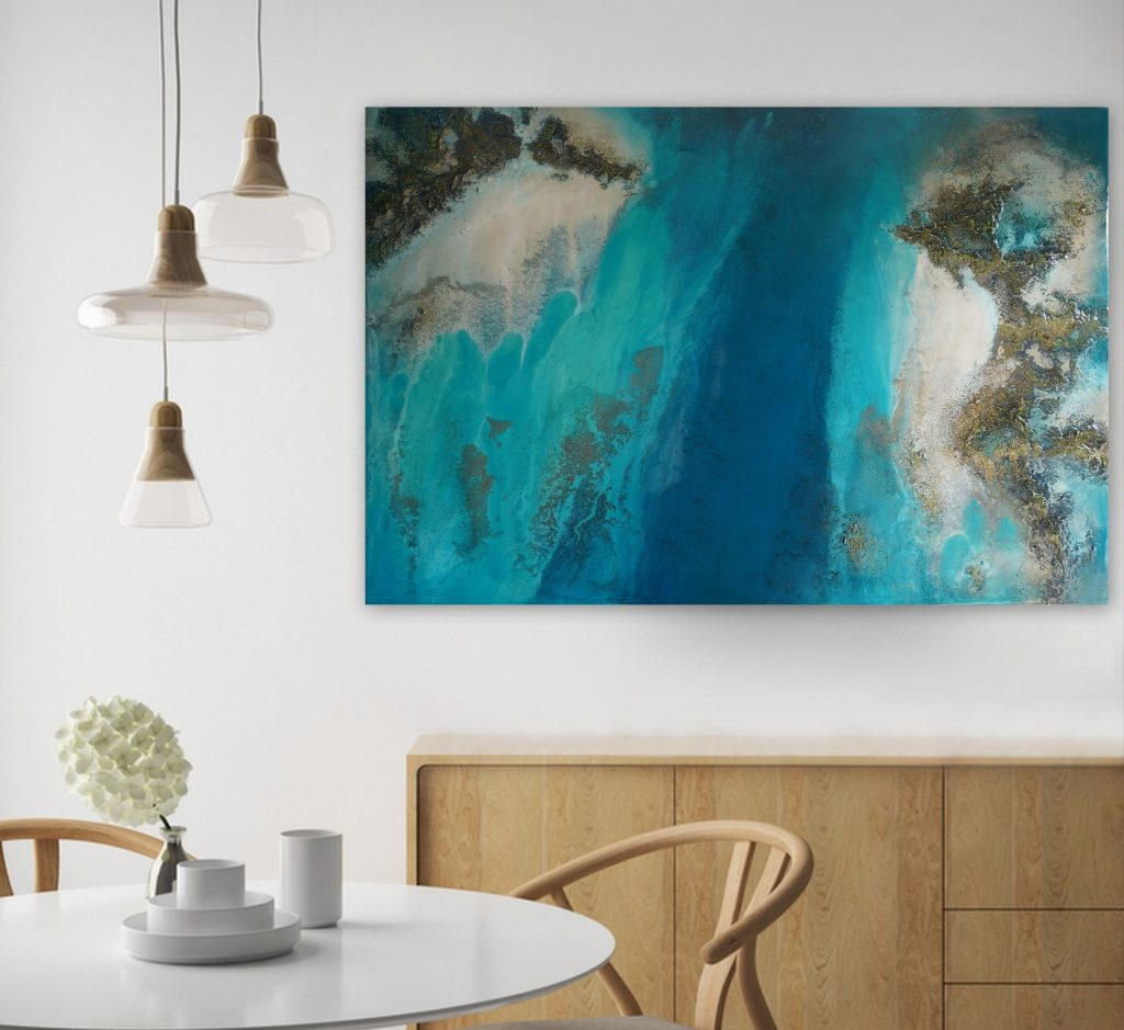 Ocean Art Teal Wall Art Petra Meikle De Vlas Art Lovers Australia